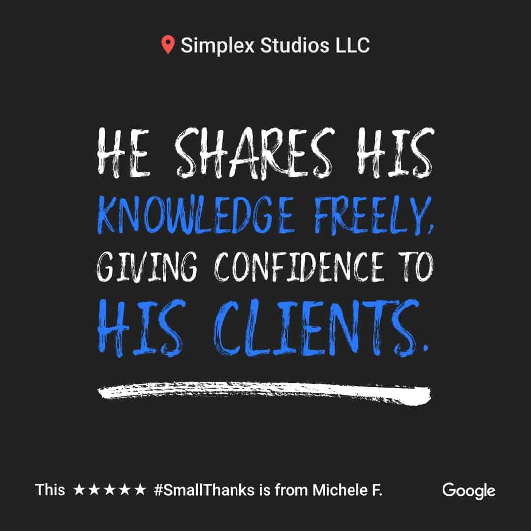 Simplex Studios google review