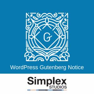 WordPress Gutenberg Notice