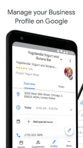 Google My Business - Updated App manage business profile